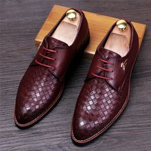 Pointed Toe Men Oxfords Shoes Casual Men Leather Shoes Men Flats Lace Up British…