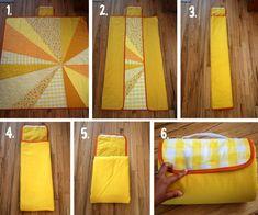 Tutorial: Sunburst Picnic Blanket – you and mie Quilting Tips, Quilting Tutorials, Sewing Tutorials, Sewing Crafts, Sewing Projects, Picnic Quilt, Picnic Mat, Picnic Baskets, Beach Picnic