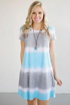 Wave Runner Tie Dye Dress - Piace Boutique