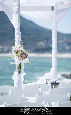 {Toni & Bari} Wedding gazebo decor - Blush pink, king proteas