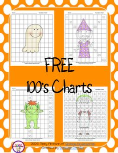 freebie... 4 different 100's charts for Halloween