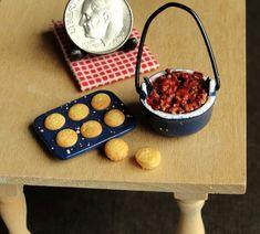 1:12 Scale Chili and Cornbread Muffins by fairchildart on DeviantArt