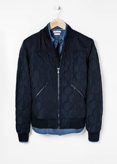 Quilted Bomber Jacket - He by Mango