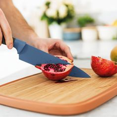 Shop Stainless Steel Chef's Knife from BergHOFF at Neiman Marcus Last Call, where you'll save as much as on designer fashions. Large Cutting Board, Butcher Block Cutting Board, Bamboo Cutting Board, Kinds Of Vegetables, Knife Sets, Chef Knife, Freshly Baked, Food Preparation, Leo