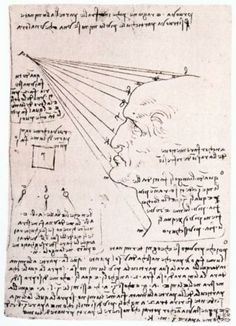 Leonardo da Vinci. Study of the effect of light on a profile head facsimile