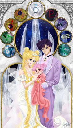 "moonlightsdreaming: ""  Sailor Moon. The new millennium. by Kanochka """