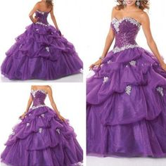 Beaded Quinceanera Dresses Ball Gown Prom Pageant Dress Wedding dress