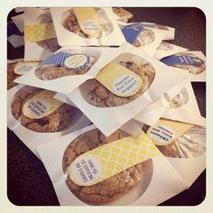 Cookie packaging plus chocolate chip cookie recipe!