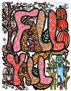 Abstract Doodles: It's Fall Y'all...