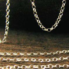 Sterling Silver Rolo Chain 10 Ft    2.1mm  by OakhillSilverSupply