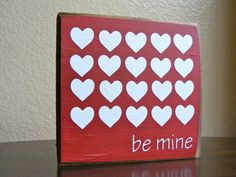 Be Mine Sign by PrimandProperToo on Etsy, $5.00