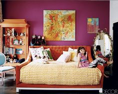gorgeous wall color/neat color scheme with cherry furniture POSITIONING PF EVERYTHING I LOVE