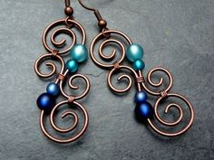 Earrings LUMINATE BLUE and TURQUOISE New by ArohaJewelz, �19.00 by wanting