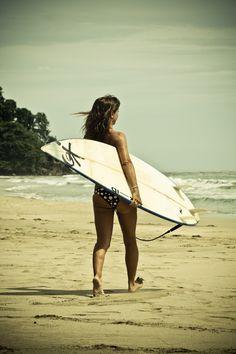Surfer Girl in Costa Rica