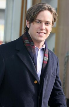 Armie Hammer - ridiculously handsome and amazing voice.