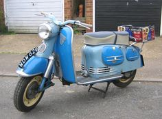 vintage Puch... love the blue shades and the front fender plate :D