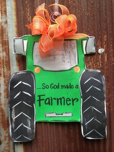 Tractor Door Hanger by WiredupbyMellie on Etsy, $45.00
