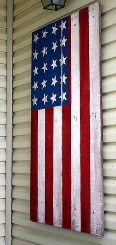 Pallet wooden flag
