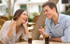 Free art print of couple dating and flirting in a restaurant. couple dating and flirting while taking a conversation and looking each other in a restaurant Flirting Messages, Flirting Quotes For Her, Flirting Texts, Flirting Tips For Girls, Flirting Humor, Games For Girls, Guys And Girls, Teen Star, Greetings From Germany