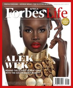 Alek Wek Features on the Cover of Forbes Life's Debut Edition (OCtober 2013)