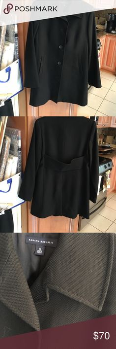 Banana Republic 2 piece suit Pristine condition.  You can use this jacket which is longer by itself or as a suit.  Very vogue look. Banana Republic Jackets & Coats