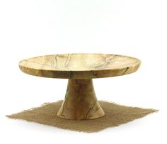 9 3/8 Spalted Maple Cake Stand Pedestal Cake by WoodExpressions