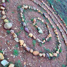"awestrek: ""On our way to Astorga we picked up Nancy near this stone spiral/labyrinth. Grace walked it. #astorga #spain #camino #caminodesantiago #santiago #europe #travel #love #labyrinth #stones #stonespiral #buencamino"""