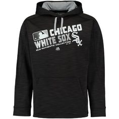 MEN'S CHICAGO WHITE SOX MAJESTIC BLACK AUTHENTIC COLLECTION TEAM CHOICE STREAK HOODIE