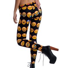 Wow, check out these emoji pants!   Loving these.