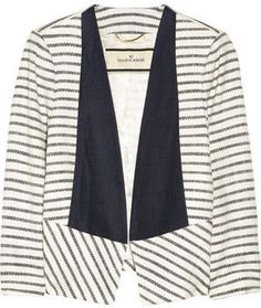 By Malene Birger Etioloa striped woven jacket