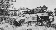 US soldier examines a Panther PzKpfw V Ausf A medium tank, Normandy, summer 1944. The Panther has clearly suffered a penetrating hit for a substantial armor-piercing projectile through its vulnerable side armor. The consequences of such a hit for the crew would have been disastrous - the interior of the tank would have been filled with flying shot fragments and spall; receiving such a hit in this position would very likely have killed them all. Best regards, JR.