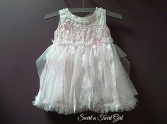 BABY TUTU DRESS flower girl dress infant fairy by SwirlnTwirlGirl