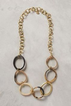 Horn Link Necklace #Anthropologie