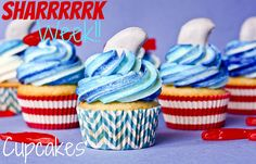 Shark Week Cupcakes!! - Confessions of a Cookbook Queen