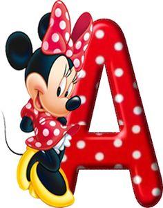 Alfabeto Decorativo: Alfabeto - Minnie Vermelha com Bolinhas 5 - Comple...