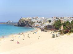 Playa del Matorral en Fuerteventura, España.