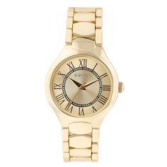 Ellen Tracy Women's ET5194 plated Bracelet Sunray Dial Watch