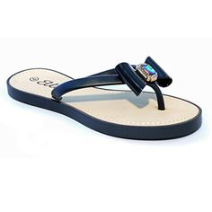 5abe1fe8c685b2 Womens Summer Gem Flip Flops Beach Sandals Black 740     Want to know more