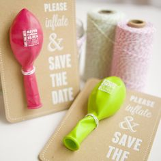 Balloon save the dates – White Knot UK