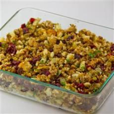 Sausage, Apple and Cranberry Stuffing (I may experiment and add a little banana in there)