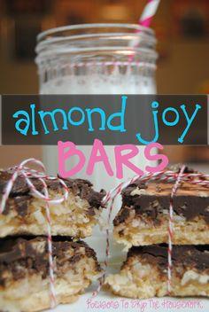 Almond Joy Dessert Bars from Reasons To Skip The Housework