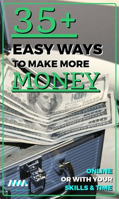 Here are 35 legit ways to earn more money and side hustle to reach your financial goals. Save more money, earn more money, get out of debt or invest more with these 35 ways to make money online or with your skills and time.. #makemoney #earnmoney #personalfinance