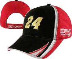 Jeff Gordon Drive To End Hunger Nascar Racing Adjustable Flame Hat Free Ship Fan Apparel & Souvenirs