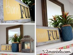 DIY Chalkboard -FUL Sign with Homemade Chalk Paint #chalkboard