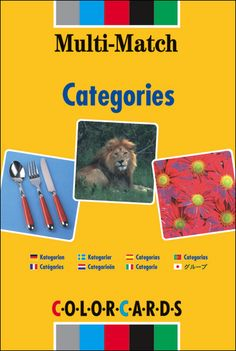 $50.50 Multi-Match Categories:  96 pairs of images categorized into two areas: complex and simple. Cover subjects such as fruit, clothing, garden and transport, with four pairs of images per group eg, Transport: bicycle, train, plane, and boat. Feature a wide range of vocabulary and can be adapted for all ability levels. Smaller cards, making them easier to use. Age: 4+.