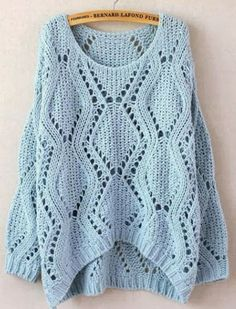 JCB Light blue knitted sweater for fall
