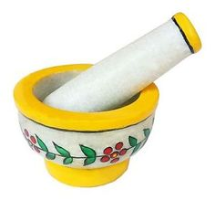 Colorful Handmade Creative Work Masher 4 Inches Marble, mortar, pestle, handicraft, kitchen, item, product, masher,