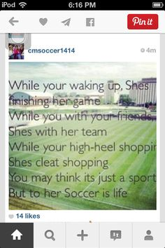 Football is life, football quotes, soccer quotes, Soccer Girl Probs, Girls Soccer, Play Soccer, Soccer Stuff, Soccer Memes, Soccer Quotes, Sport Quotes, Football Quotes, Soccer Problems