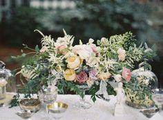 Gorgeous Compote Centerpiece by Cote Designs | photography by http://www.ashleyseawellphotography.com