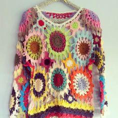 Sea Gypsy Crochet Jumper.